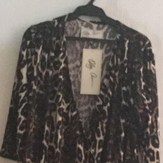 Oleg Cassini Leopard Print Dress Size 10