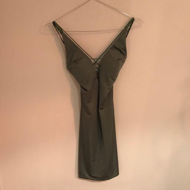 Paradisco Olive Green Bodycon Dress