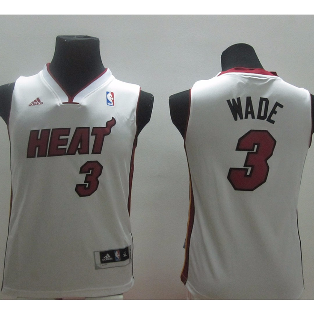 more photos 2e8c7 612a6 [PO] NBA Kids Miami Heat Dwayne Wade Swingman Jersey