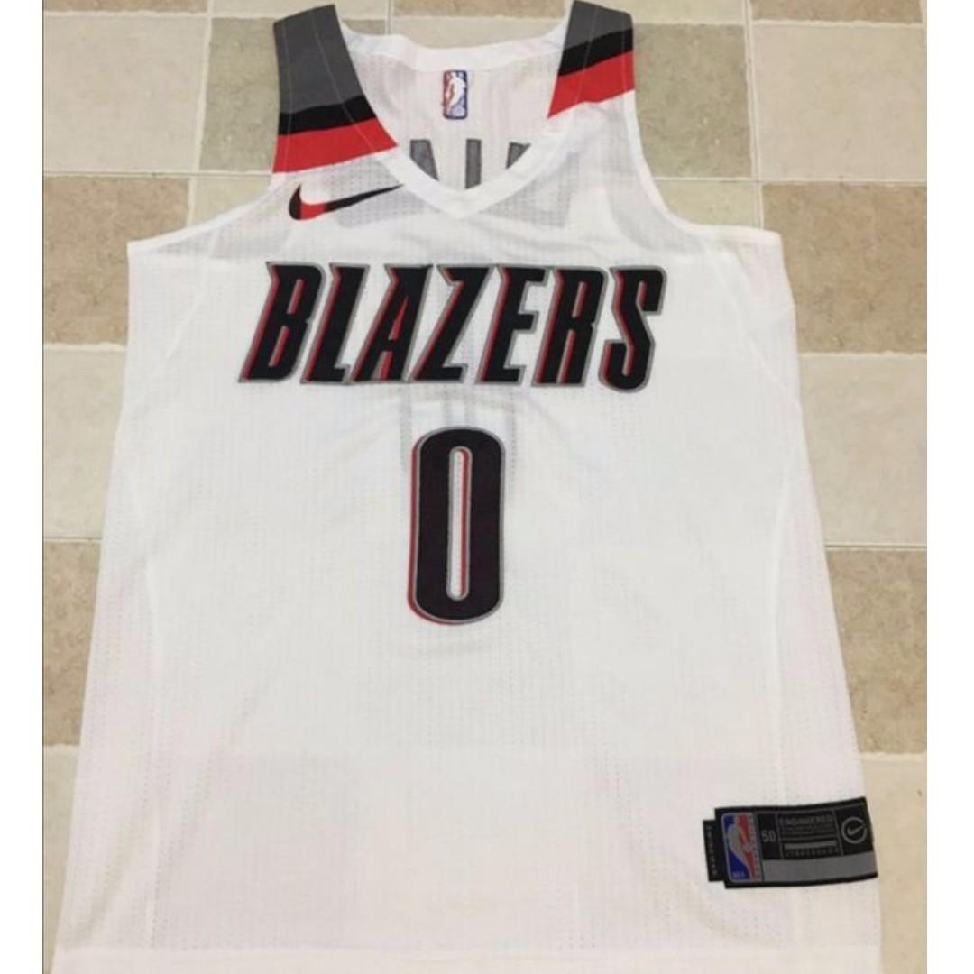 online retailer 27b35 d7ad4 PO] NBA Portland Trail Blazer Damian Lillard Swingman Jersey ...