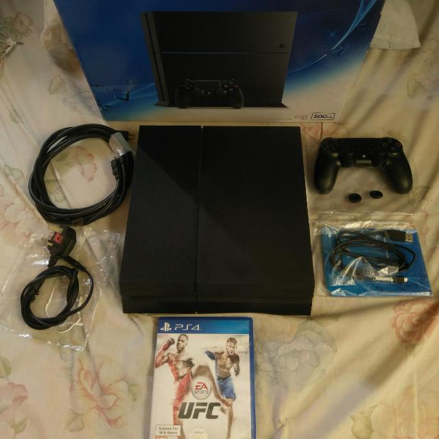 Ps4 500gb with 2 years warranty