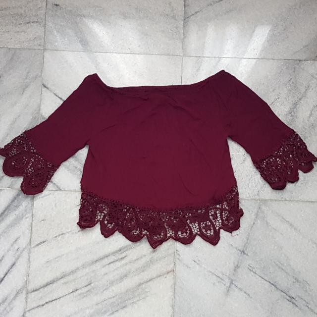 Red Maroon Top
