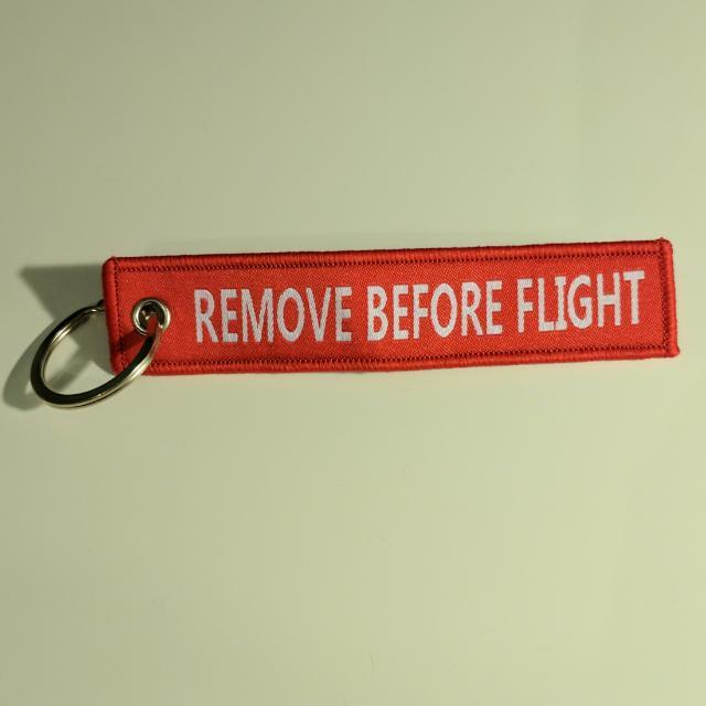Remove Before Flight Key Chain
