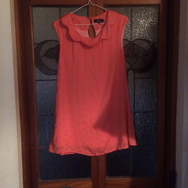Rome Peach Dress