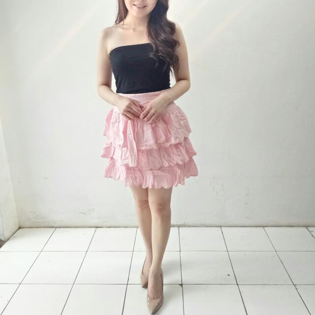 (SALE) Pink Babydoll Skirt