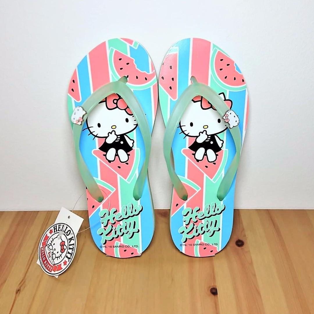 0d0485e3e Sanrio Hello Kitty Watermelon Women's Flip Flops Beach Sandals (916016),  Women's Fashion, Shoes on Carousell