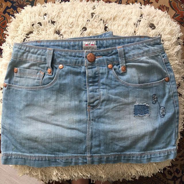 Sass And Bide Mini Denim Skirt