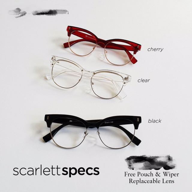 SCARLETT EYEGLASSES COLOR CHERRY,BLACK and CLEAR!!!