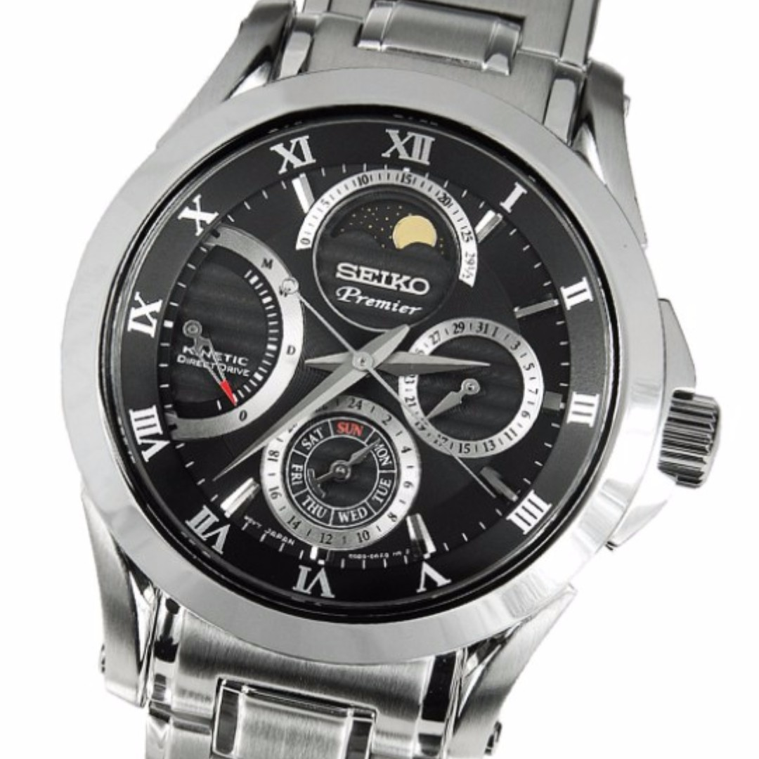 SEIKO Watch Premier - Kinetic Direct Drive Moon Phase 5D88 9f40655701