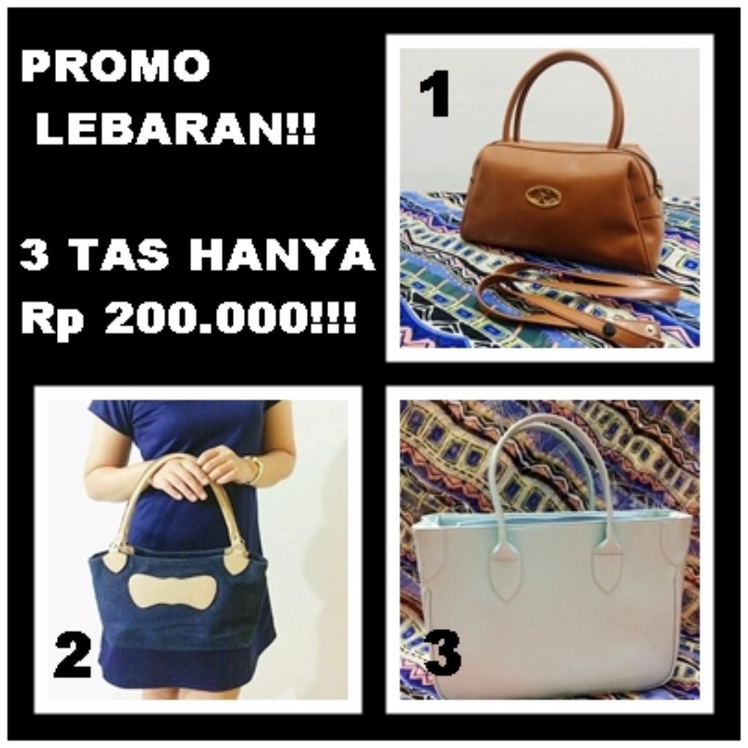 SPECIAL PROMO! 3 Handbags only 200K!