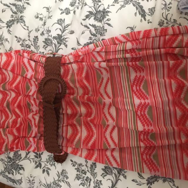 Strapless Summer Dress Sz L