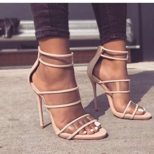 Strapped Nude Heels
