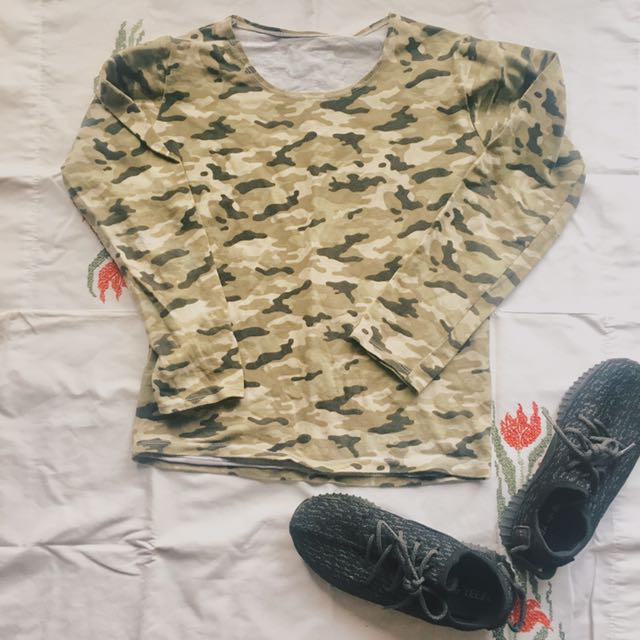 Stretchable Camo Sweater