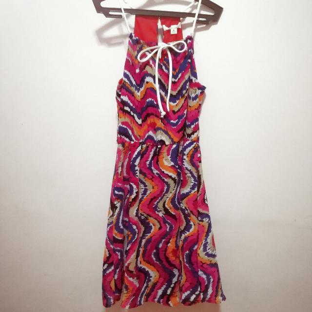 String Halter Summer Dress