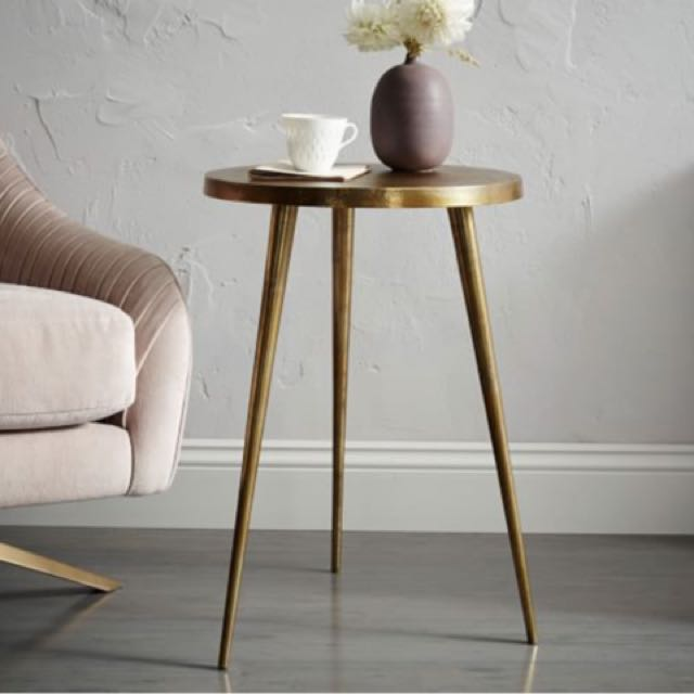 Tripod Side Table (silver)