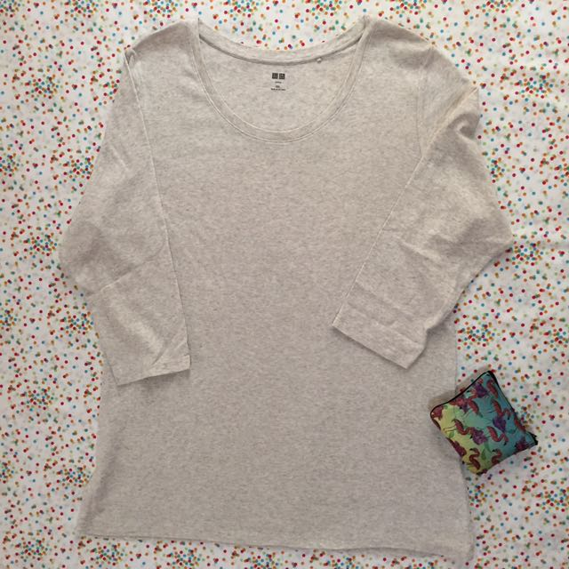 UNIQLO 3/4 Sleeves gray