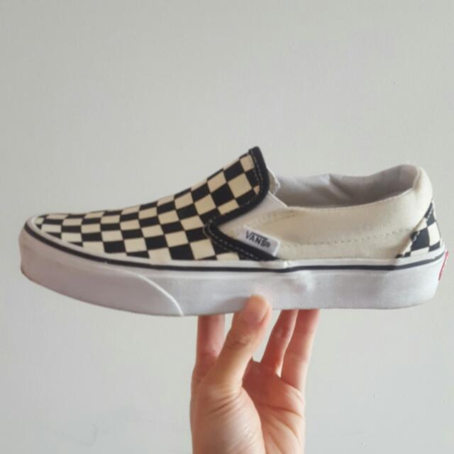 Vans Slip On Blk White Checkered