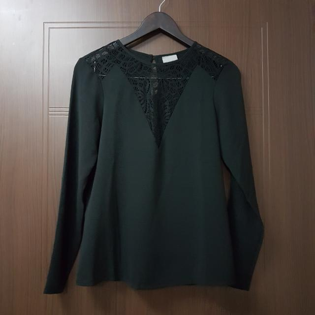 Vero Moda Black Blouse With Lace