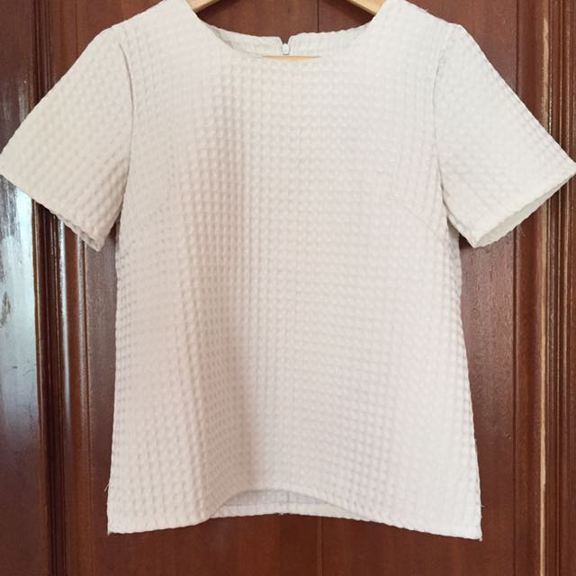 White Waffle Top