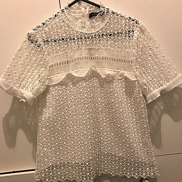 Zara Lace Top Small