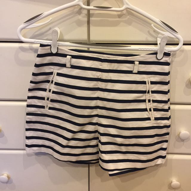 Zara Striped Fashion Shorts