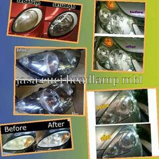 Jasa Cuci Headlamp Dan Stoplamp Mobil