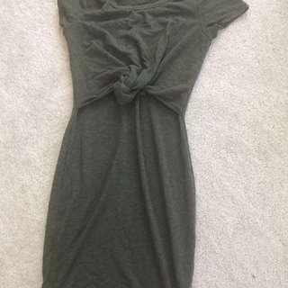 Fashion Nova Green Bodycon Dress