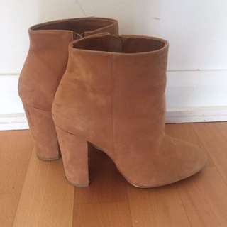 ALDO tan Booties- Size 6.5