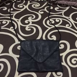 HnM Black Leather Sling Bag (Preloved)