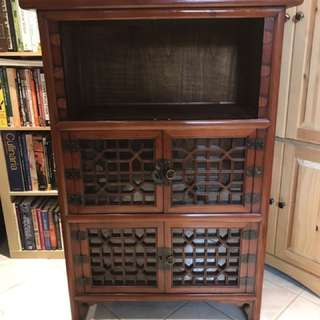 ANTIQUE BOOKSHELF/ STORAGE SPACE