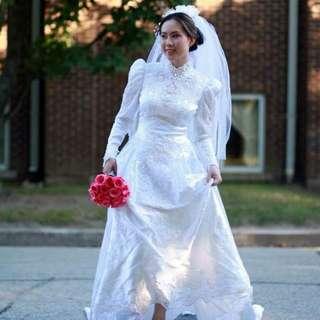Vintage Wedding/bridal Dress -Reduced price!
