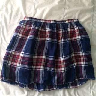 United Colors Of Benetton Plaid Skirt