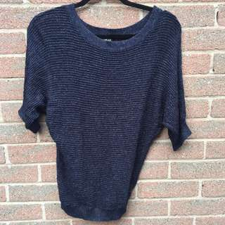 Sparkly Dark Blue Sweater