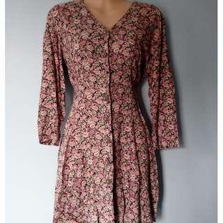 Vintage 3/4 floral dress