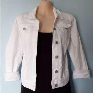 Sussans white denim jacket