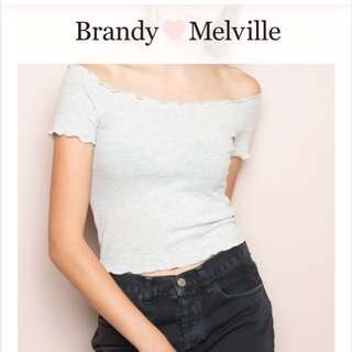 Brandy Melville off The Shoulder Top