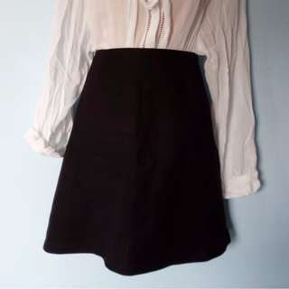 Portmans A-line black skirt