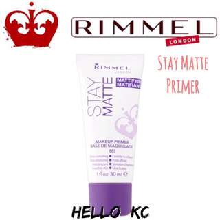 💖INSTOCKS💖 RIMMEL LONDON Stay Matte Primer