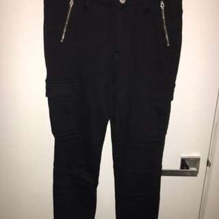 Seed cropped jeans size 8