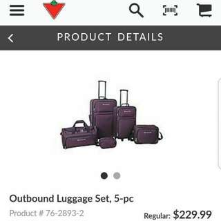 Outbound 5 piece luggage set