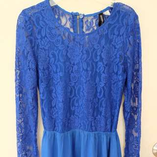 Divided Lacy Top Dress