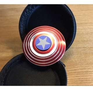 Tri Spinner Alloy Captain American Hand Spinner EDC Pocket Anti Stress Gift