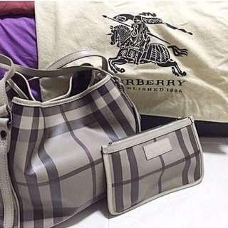 Burberry Medium Canterbury Smoked Checkered PVC Bag