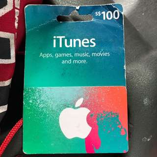 itunes Gift Card S$100