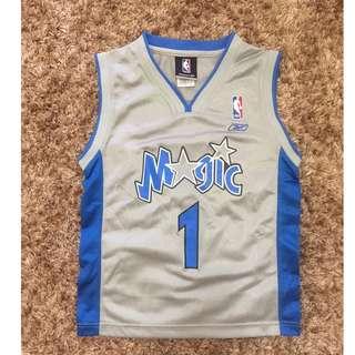 100%真品 NBA reebok 早期收藏球衣 魔術隊 Mcgrady 大童M號 不是青年 是大童 球衣