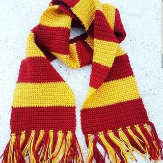 Crochet Gryffindor Scarf Harry Potter HP