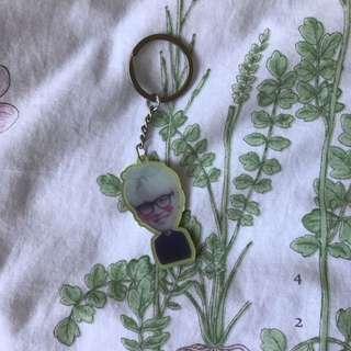 BTS SUGA Bowknot Acrylic Keyring