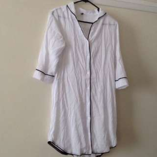 Gooseberry Sleepshirt White Sz M