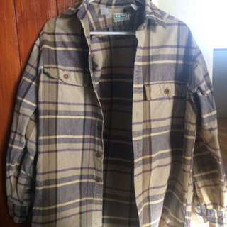 Vintage Men's Flannel Shirt/Over Shirt
