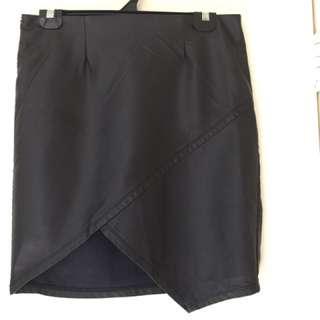 Valleygirl Leather Look Skirt
